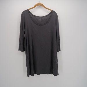 Pure Jill Scoop Neck Short Sleeve Tunic T-Shirt